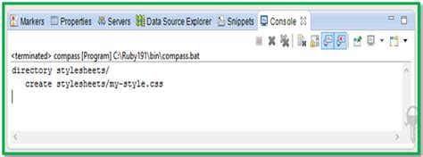 eclipse template with list inside configuring compass in eclipse for java web project