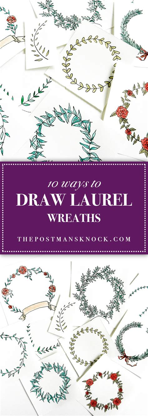 10 Ways To Draw Laurel Wreaths  The Postman's Knock