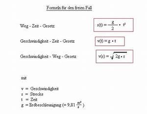 Strecke Berechnen Physik : der freie fall ~ Themetempest.com Abrechnung