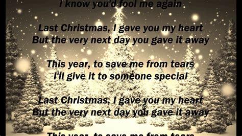 wham lyrics wham last christmas lyrics youtube