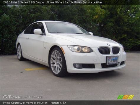 2010 Bmw 328i Coupe by Alpine White 2010 Bmw 3 Series 328i Coupe Saddle Brown