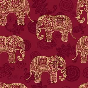 Indian Elephants Wallpaper | Wall Decor