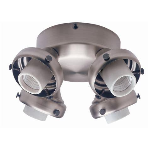 lowes ceiling fan light kit shop hunter 4 light antique pewter ceiling fan light kit