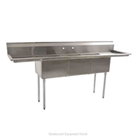 stainless kitchen sinks eagle bps 2472 324lfex sink 3 three compartment 2472