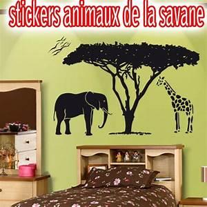 Stickers Animaux De La Jungle : stickers animaux de la jungle pas cher france stickers ~ Mglfilm.com Idées de Décoration