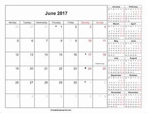 June 2017 Calendar Printable with Holidays PDF and JPG