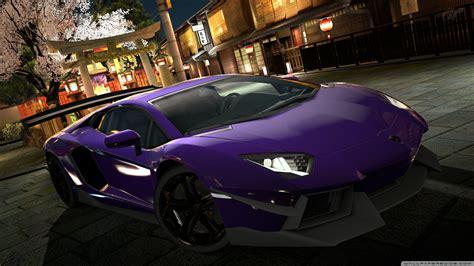 lamborghini aventador lp  purple ultra hd desktop