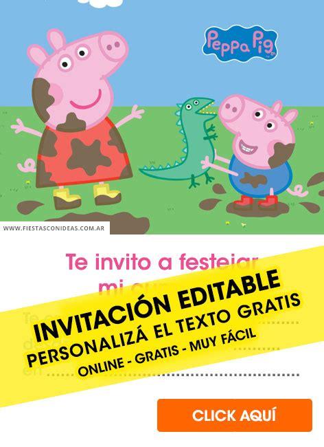 peppa pig birthday invitations  edit