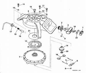 Rewind Starter Parts For 1994 6hp E6rere Outboard Motor