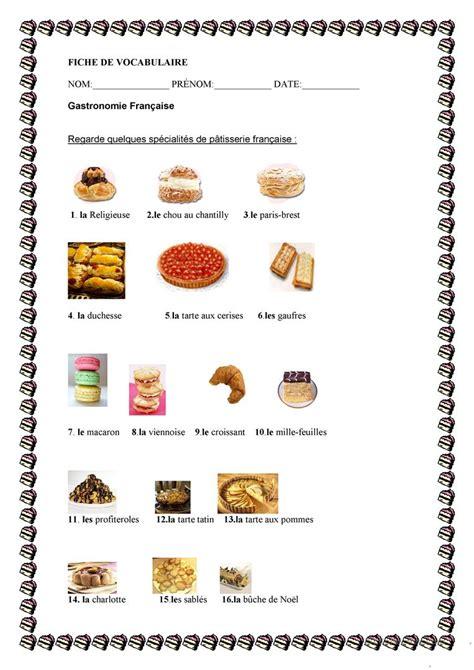 lexique ustensiles de cuisine patisserie française et portugaise fiche d 39 exercices