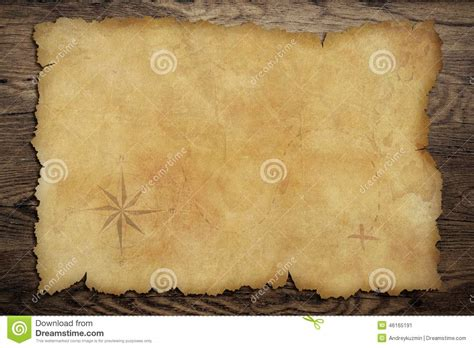 pirates  parchment treasure map  wood table stock