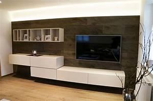 Herrlich Wohnwand Modern Wohnzimmer Ikea Regal Kallax