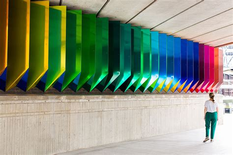 liz west unveils   permeant installation colour
