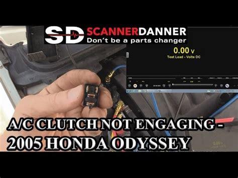 ac clutch  engaging  honda odyssey youtube