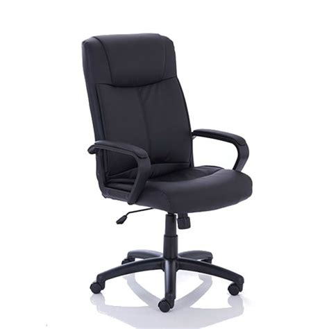 precinct executive bonded leather chair arms black