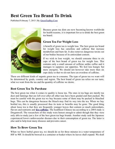 what is the best green tea to drink best green tea brand to drink