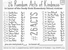 26 random acts of kindness play