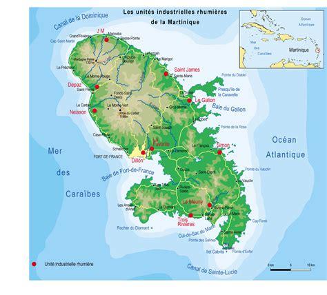 Carte Du Monde Martinique by Carte Martinique G 233 Ographique 187 Vacances Arts Guides