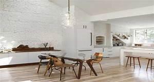 8 idees deco pour egayer une cuisine blanche With deco cuisine avec chaises blanches de cuisine