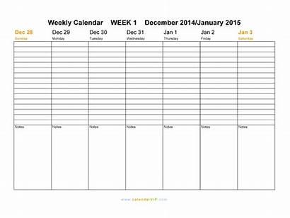 Weekly Calendar Template Templates Printable Doc Pdf