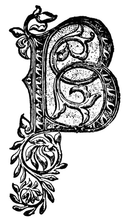 B, Ornate initial | ClipArt ETC
