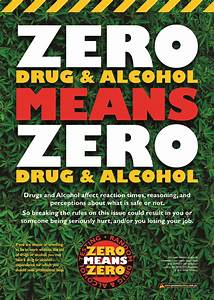 Zero Drug & Alcohol Policy Safety Poster