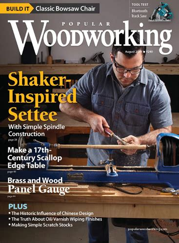 popular woodworking magazine august  digital edition