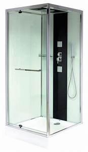 cabine de douche carree avec porte pivotante 90x90 cm With porte douche 90x90