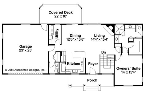 interior design for kitchen and dining ranch house plans gatsby 30 664 associated designs