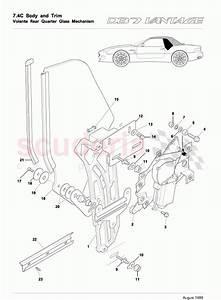 Aston Martin Db7 Vantage Volante Rear Quarter Glass