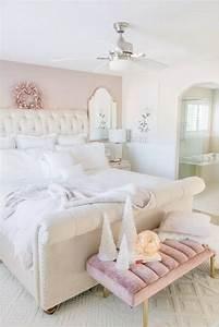 59, Elegant, White, Master, Bedroom, U0026, Blush, Decorative, Pillows