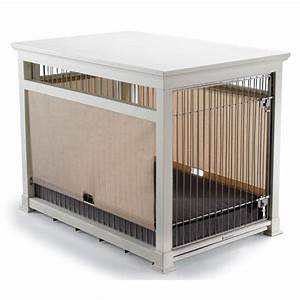 luxury white pet residence dog crate frontgate With white dog crate furniture