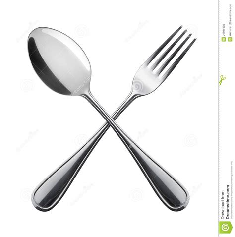 metal dining fork and spoon royalty free stock photos image 21991408