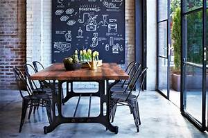 idees deco une salle a manger industrielle made in meubles With salle a manger industrielle