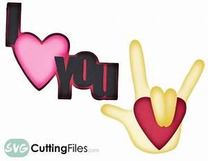 Free Sign Language I Love You SVG Cutting File