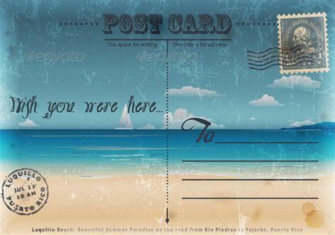 vintage postcard design templates