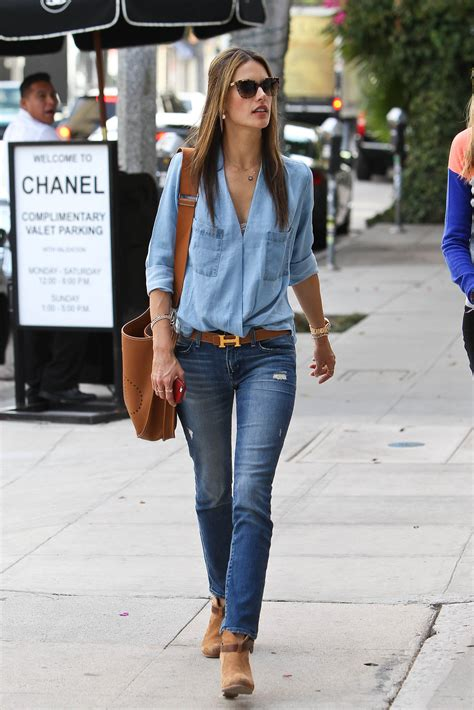 Alessandra Ambrosio In Skinny Jeans Out In West Hollywood