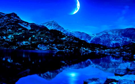 Night Beauty Landscape Wallpapers Hd / Desktop And Mobile