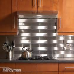 kitchen stainless steel backsplash stainless steel kitchen backsplash the family handyman