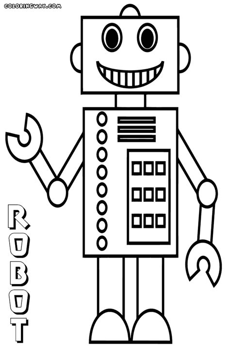 robot coloring pages coloring pages    print