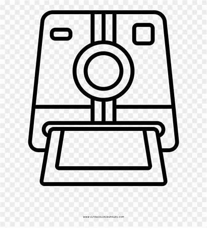 Polaroid Camera Coloring Desenho Pinpng Transparent