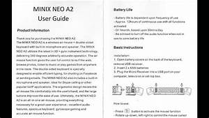 Minix Neo A2 User Guide