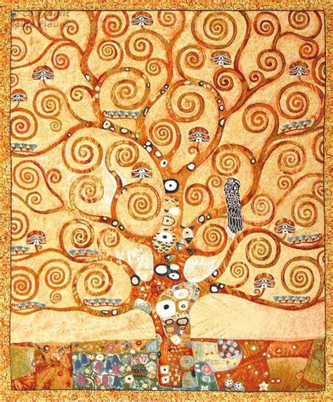 quot gustave klimt l arbre de vie quot tapisserie belge