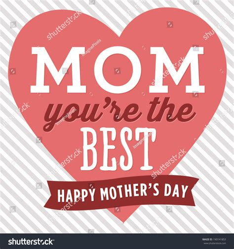 best for s day mom youre best happy mothers day stock vector 190141853 shutterstock