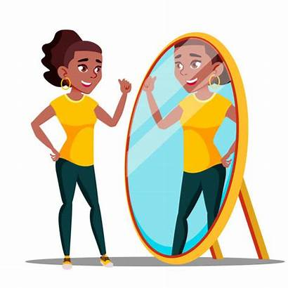 Mirror Talking Reflection Self Vector Character Speaking