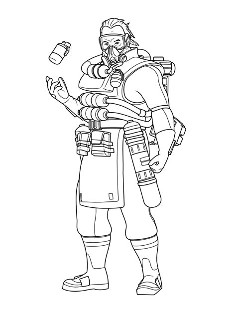 caustic apex legends coloring play  coloring game