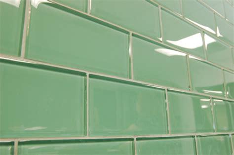 Sage Green Subway Glass Tiles  Modern  Bathroom  Hawaii