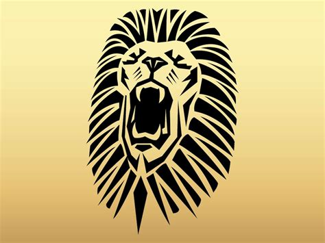 stylized lion wallpaper wallpaper wide hd