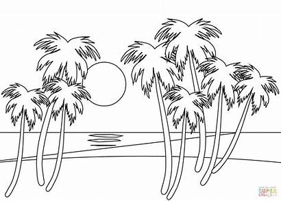 Coloring Pages Sunset
