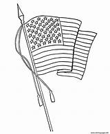Flag Coloring American Pages Waving Printable 7e53 Usa Sheets Drawing Line Holidays Flags Printables Getdrawings Learning Patriotic Happy Activities Easy sketch template